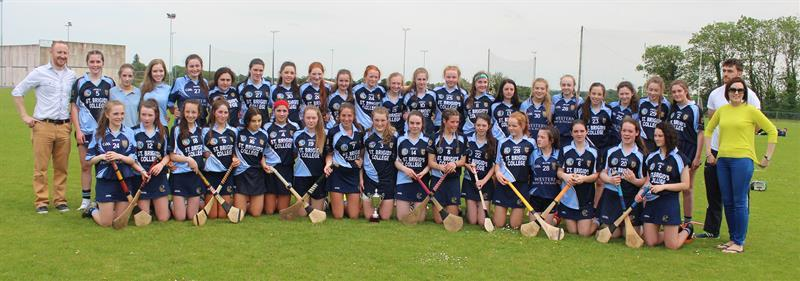 St Brigid's College Loughrea Connacht Minor Camogie Champions 2017.JPG