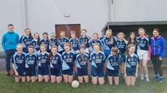 First Year Ladies Football win