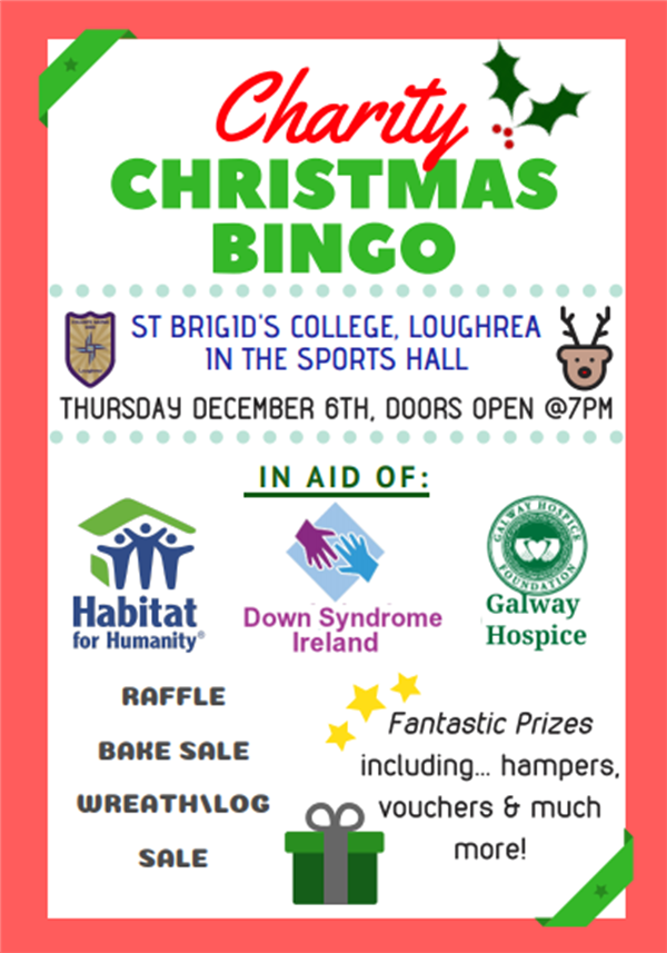 Christmas Charity Bingo