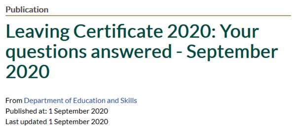 Leaving Certificate 2020: Your questions answered
